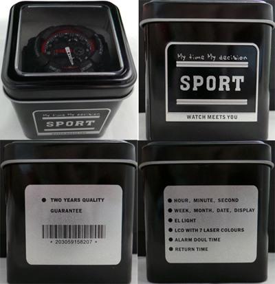 Поддельная банка-упаковка часов G-SHOCK
