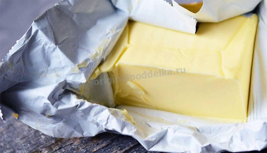 Упаковка сливочного масла
