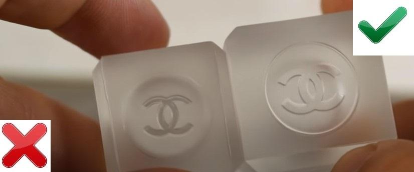 Логотип на колпачке Chanel Chance