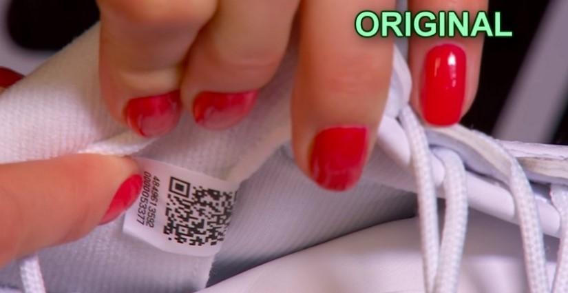 QR-код на оригинале Fila Disruptor