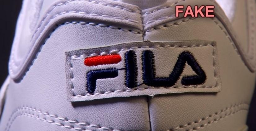 Логотип на поддельных Fila Disruptor