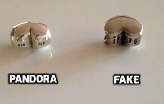 Оригинал и подделка Pandora