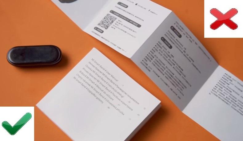 Инструкция от оригинального Xiaomi Mi Band 4 и подделки