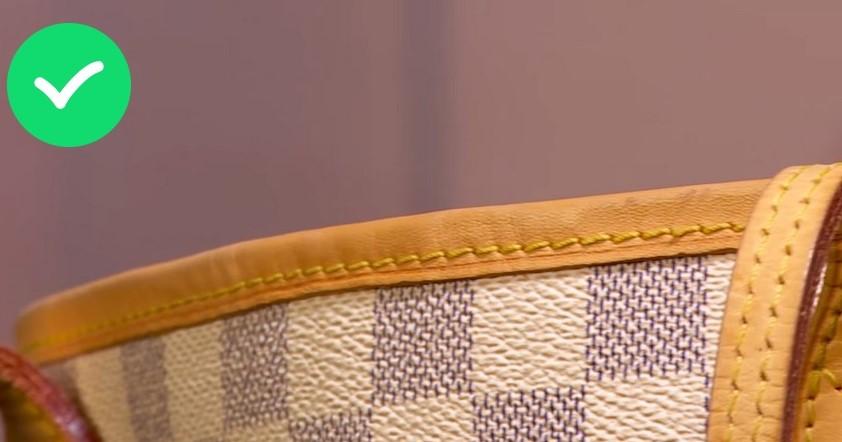 Швы на оригинальной сумке Луи Витон