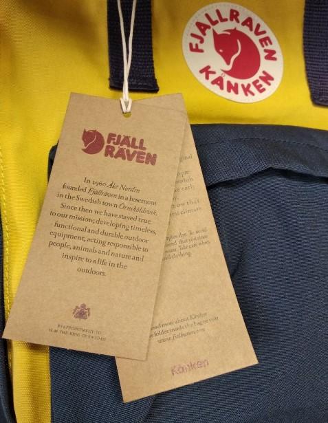 Бирка на рюкзаке Kanken