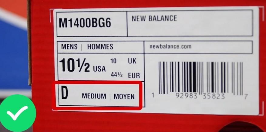 Размер на оригинальном New Balance