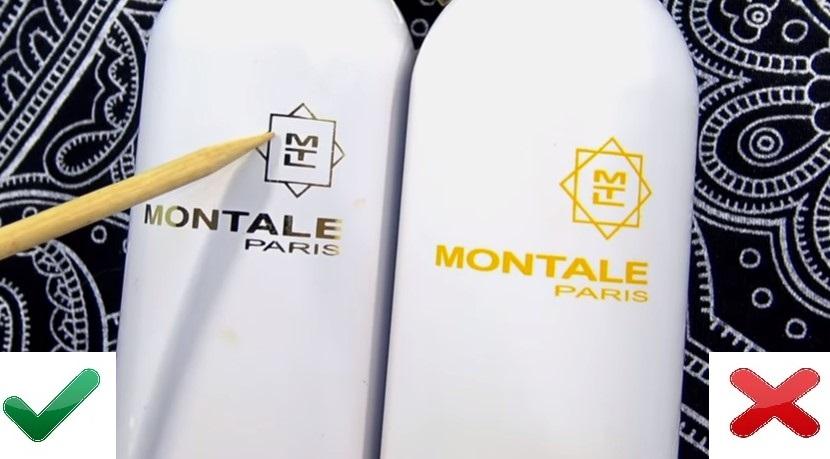 Флакон оригинала и подделки Montale