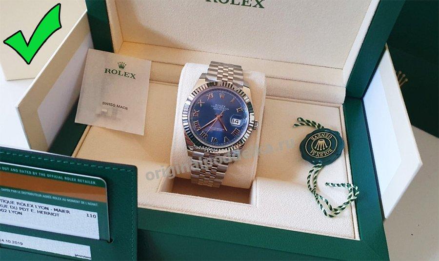 Упаковка часов Ролекс