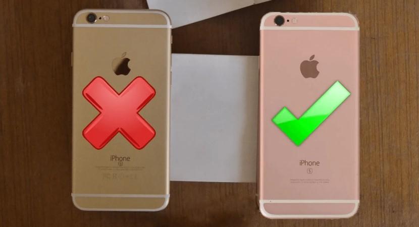 Сравнение корпуса оригинального iPhone и подделки