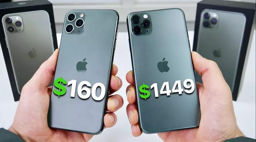 Стоимость оригинального iPhone и подделки