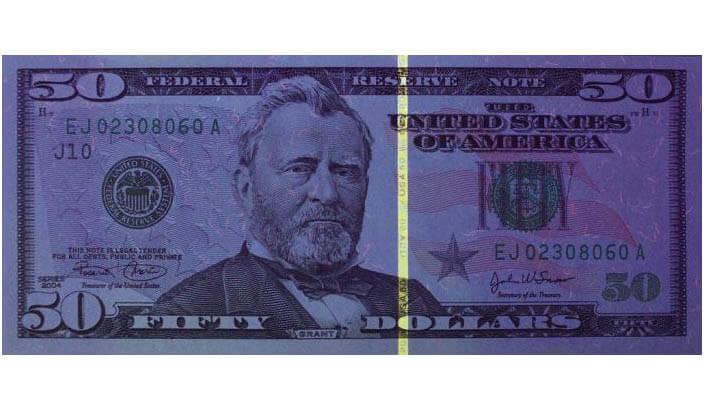 Защитная полоса на долларах