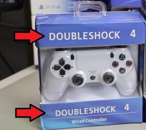 Упаковка подделки Dualshock 4
