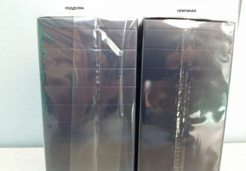Сравнение упаковки на оригинальном Dior и подделке