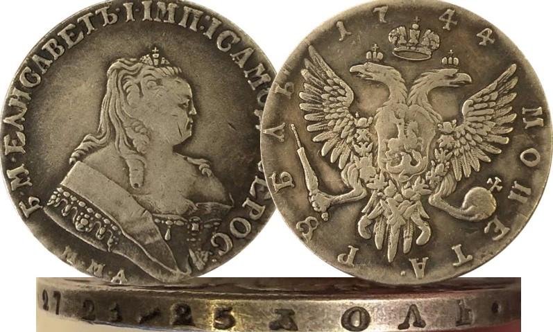 Гурт на фальшивой монете царской России