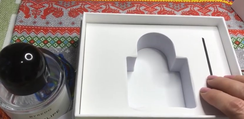 Внутренняя часть коробки из-под Байредо