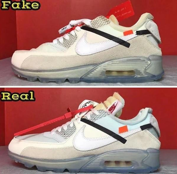 Сравнение оригинальных Nike Air Max и подделки