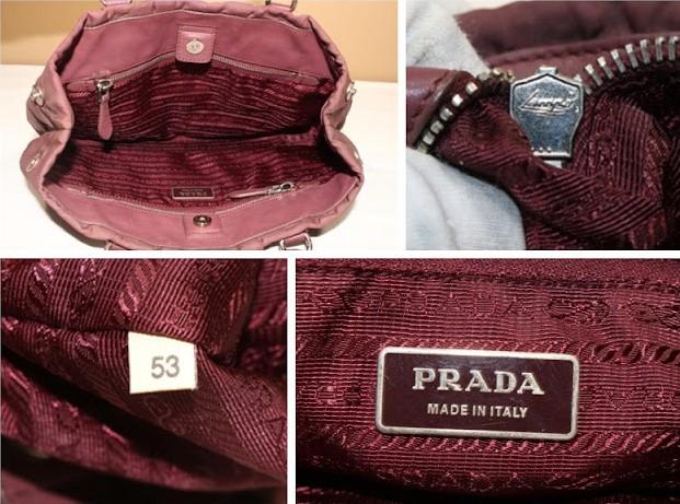 Внутренняя часть оригинальной сумки Prada