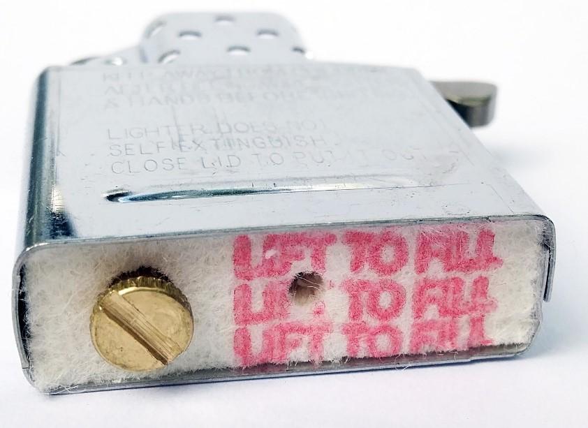 Войлок внутри корпуса зажигалки Zippo