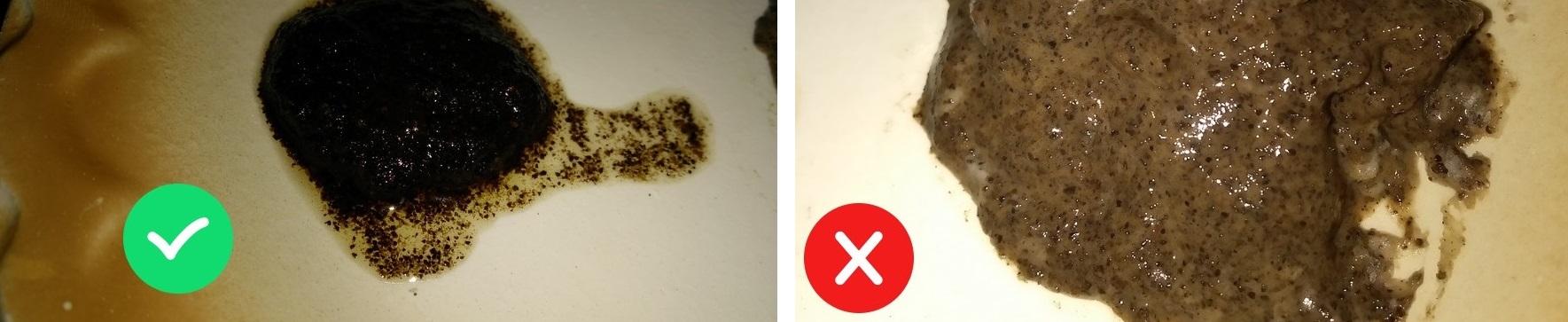 Проверка порошка корицы с помощью кофе