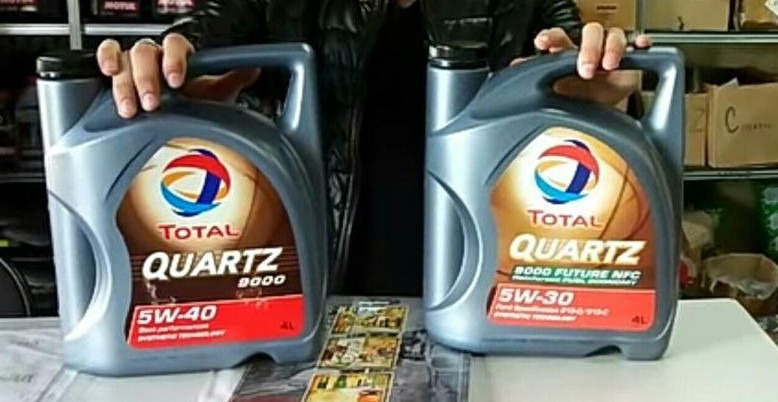 Сравнение оригинального масла Total Quartz и подделки