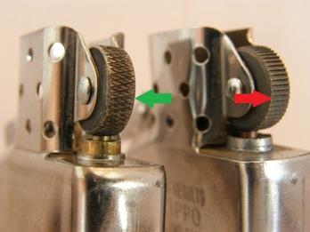 Кресало на зажигалке Zippo