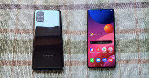 Вид сзади и спереди Samsung Galaxy M51