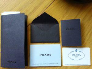 сумки Prada сертификат и чек