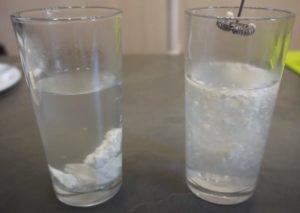 Опыт с водой - проверка творога на натуральность