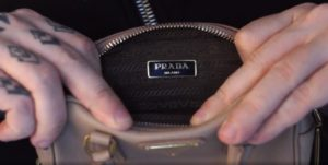 Как сумка Прада выглядит внутри
