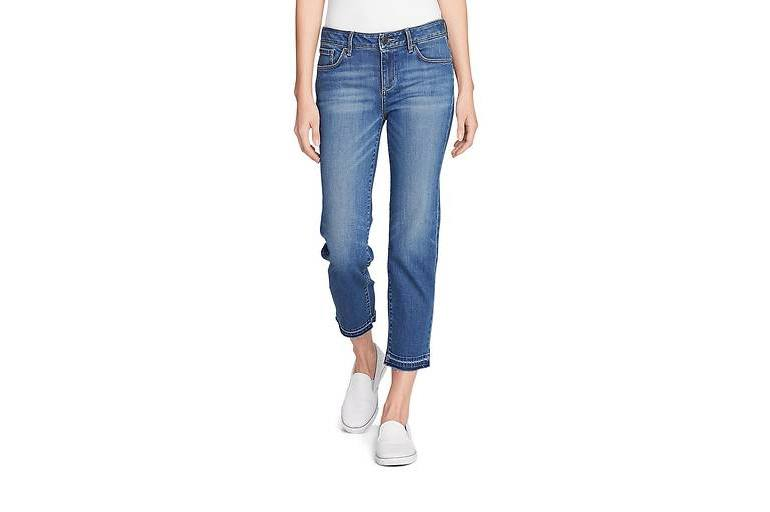Укороченные джинсы