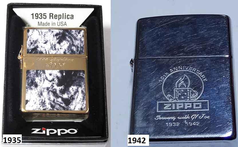 Zippo 1935 годов и 1942