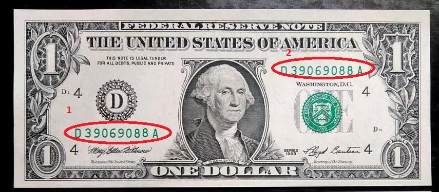 Серия на банкноте