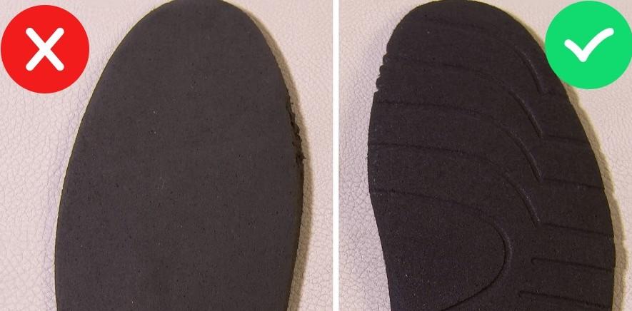 Стелька на оригинальных кроссовках Balenciaga и подделке