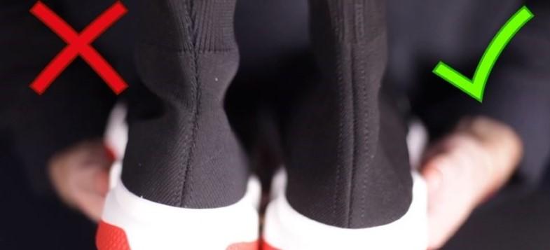 Швы оригинальных кроссовок Balenciaga и подделки