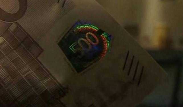 Голограмма на на банкноте 500 евро