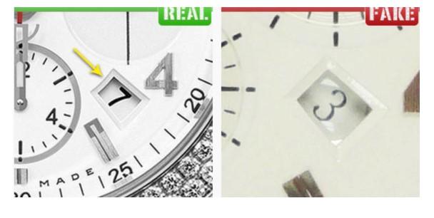 Сравнение циферблата на оригинальных часах Hublot и подделке