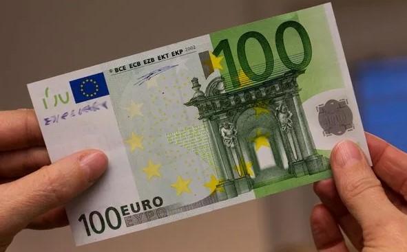 Подлинная купюра 100 евро