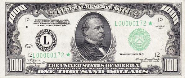 1000 долларов