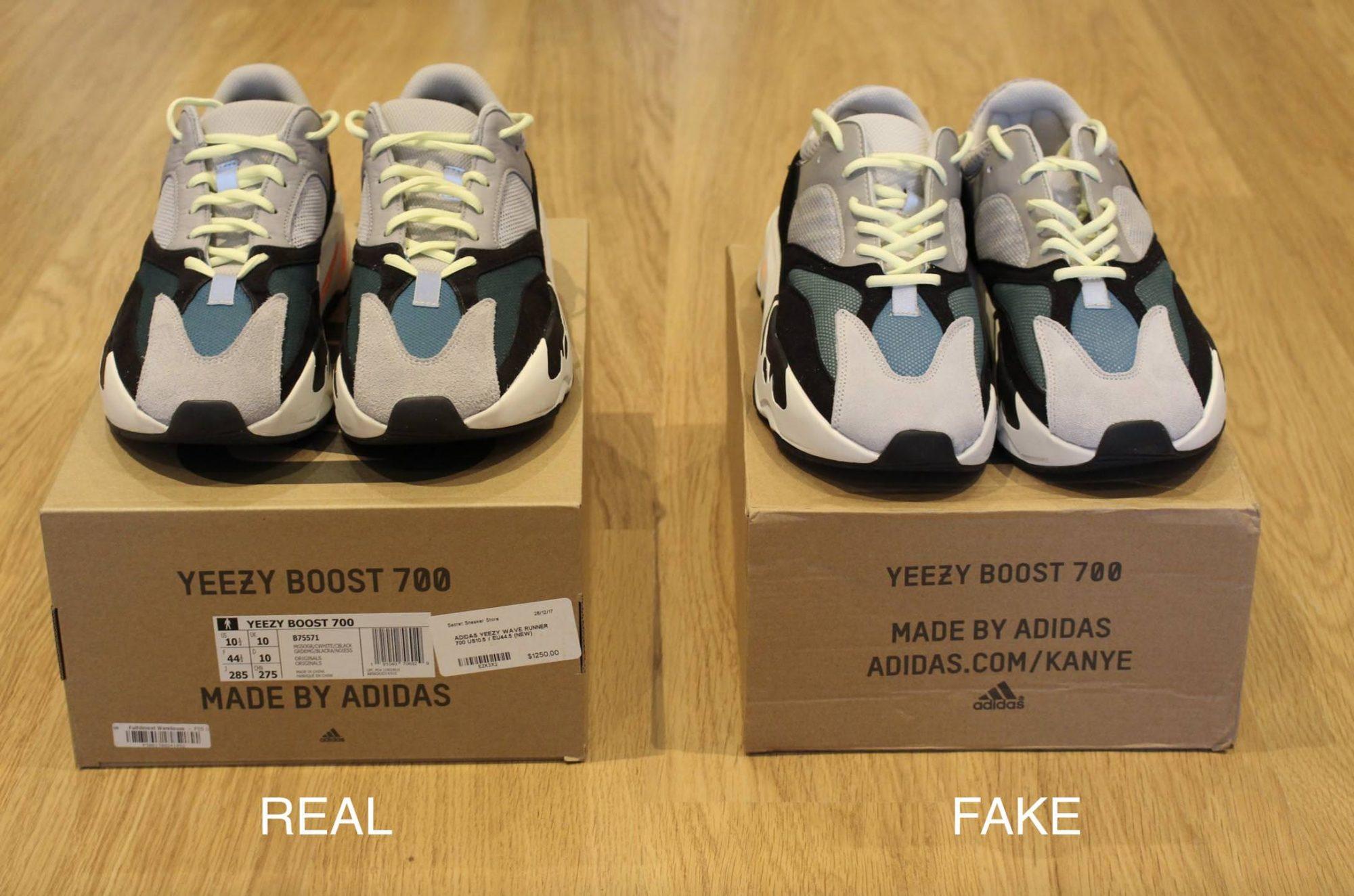 Отличия коробки поддельных кроссовок