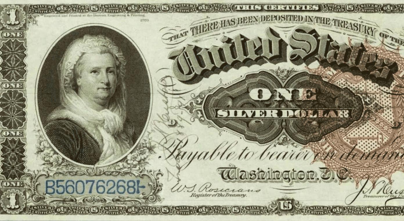 Портрет женщины на долларах